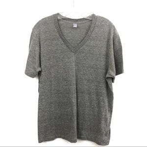 Alternative Apparel relaxed fit gray vneck tee XL